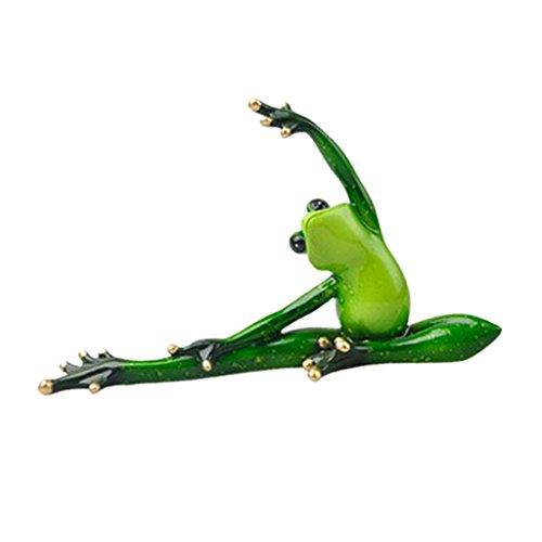 Baoblaze Sportliche Yoga Frosche Dekofigur Tierfigur Deko Tiere Figuren - A