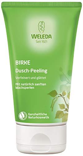 WELEDA Birke Dusch-Peeling, Naturkosmetik Körperpeeling für spürbar seidig glatte Haut, Reinigungslotion, Pflege und stärkeren Durchblutung der Haut (1 x 150 ml)