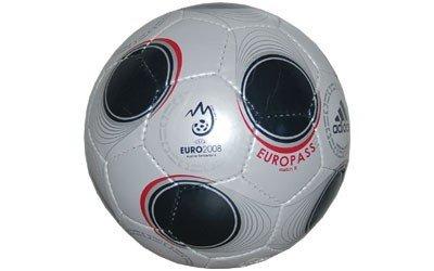ADIDAS EURO pass MATCH II UEFA EURO 2008 calcio REPLICA argento taglia 4