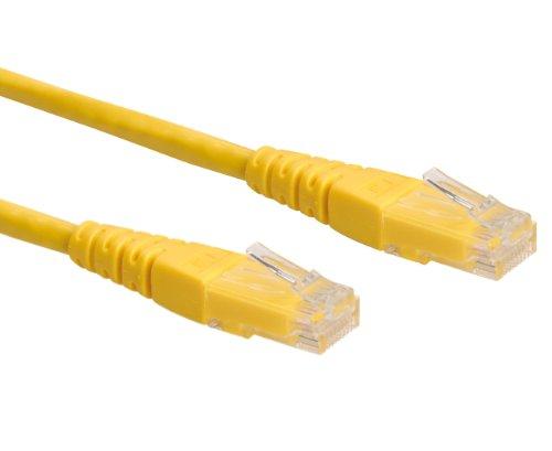 Rotronic ROLINE UTP LAN Kabel Cat 6 | Ethernet Netzwerkkabel mit RJ45 Stecker | gelb 2 m