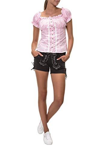 Hailys Damen Trachten Jeans Shorts Lederhose Oktoberfest Wiesn (M, Black)