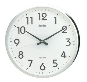 Acctim Orion Sweeper Wall Clock with Chrome Effect Case