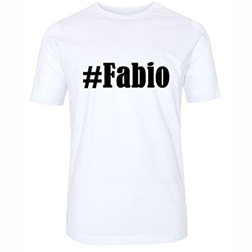 T-Shirt #Fabio Hashtag Raute für Damen Herren und Kinder ... in den Farben Schwarz und Weiss Weiß