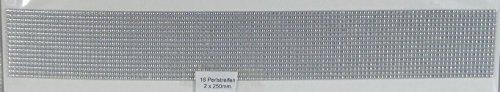 Wachs Perlstreifen, silber - Länge 25 cm, Ø 2mm, 16 Stück - 9679 - Verzierwachs - Top Qualität