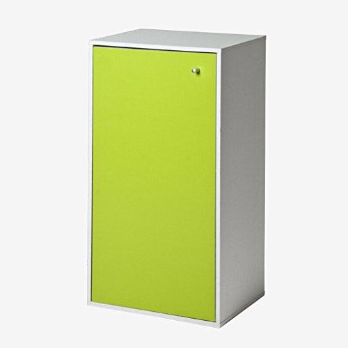 Estantería, tres capas Estantería de Shoebox de una puerta Estantería Verde Color de arce blanco 42 * 30 * 80 Cm ( Color : #1 )