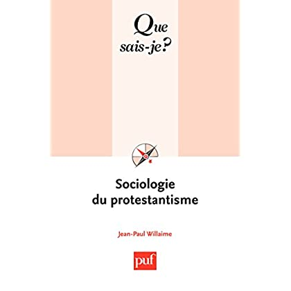 Sociologie du protestantisme: « Que sais-je ? » n° 3725