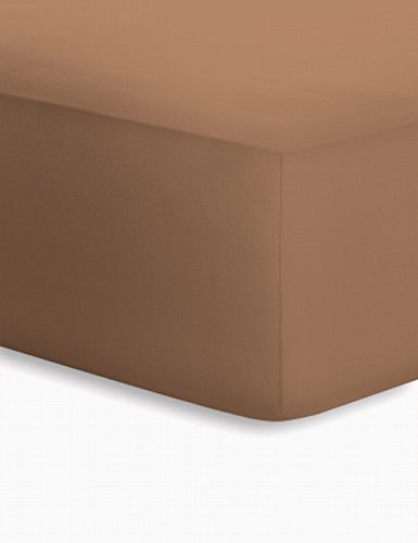 Schlafgut 5015B-00002008-012-106 Jersey-Elasthan Boxspring Spannbetttuch, Baumwoll-Mischgewebe, bahama, 220.0 x 100.0 cm