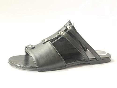 Likecrazy Damen Hausschuhe Lederschuhe Römische Strand Schuhe Flats Open Toe Slippers Outdoor Badeschuhe Pantoletten Zehentrenner Sommer Flip Flops
