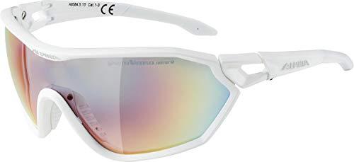 ALPINA Erwachsene S-Way QVM+ Sportbrille, White matt, One Size