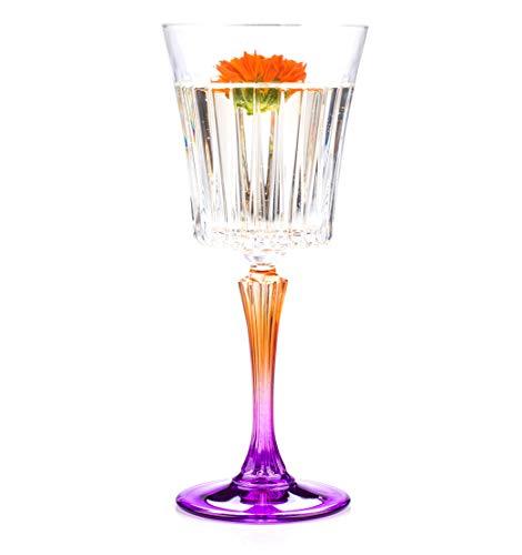 RCR 26320020006 Gipsy Crystal Wine Glasses Goblets, 298 ml, Set of 6 Crystal Goblet Set