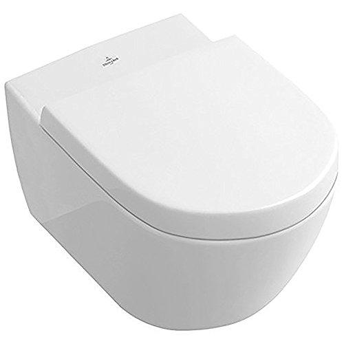Villeroy & Boch 9M686101 WC-Sitz Subway 2.0 Scharnier aus Edelstahl, weiß