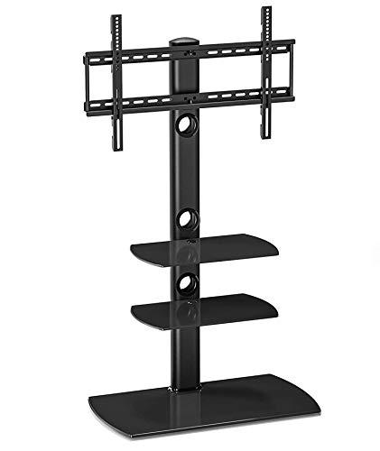FITUEYES TV Standfuß TV Ständer TV Bodenständer Fernsehstand Fernsehtisch mit Halterung höhenverstellbar für 32 bis 65 Zoll LED LCD TV Bildschirm TT306501GB -