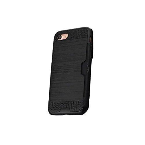 iPhone 7 plus hülle, Lantier [Card Slot Wallet Series] Dual Layer Hybrid Rüstung Robuste Kunststoff Hard Shell Flexible TPU Stoßdämpfung Defender Case für iPhone 7 Plus (5,5 Zoll) Black Black
