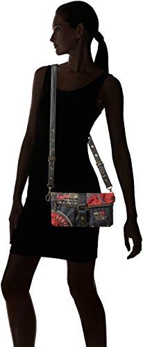 DESIGUAL Carry Bolas Rojas Clutch-Borsa con tracolla, da donna Rosso (CARMIN)