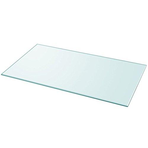 Glas-tischplatte Quadratische (Festnight Ersatzteil Quadratisch Tischplatte Glasplatte aus Gehärtetem Glas 1200 x 650 mm Transparent)