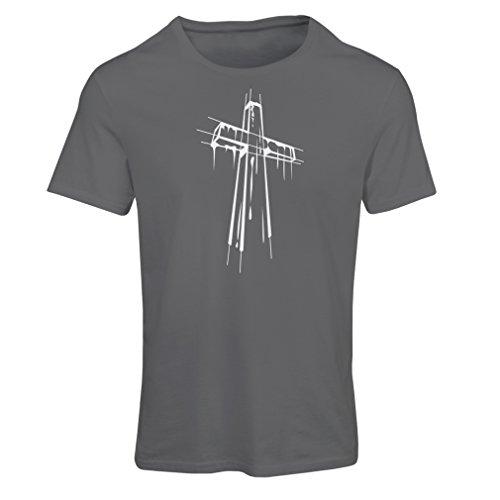 T-shirt femme Croix affligée - Cadeaux religieux. Habillement chrétien Graphite Multicolore