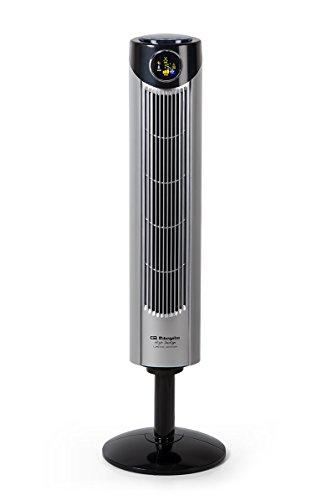 Orbegozo TWM 1015 - Turmventilator, oszillierend 45 W, drei Geschwindigkeiten, Griff, Timer, drei Betriebsarten, Fernbedienung, Ionen, Raumthermometer