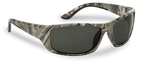 Flying Fisherman Buchanan Polarisierte Sonnenbrille, Camo Frame/Smoke Lens