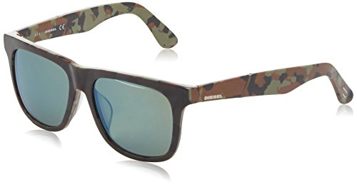 Diesel Wayfarer Eye, Montures de Lunettes Mixte Adulte, Multicolore (Camouflage), 56