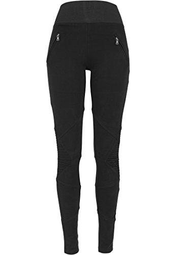 Urban Classics - Pullover Interlock High Waist Leggings, Calzamaglia sportiva Donna, Nero (Schwarz), Large (Taglia Produttore: Large)