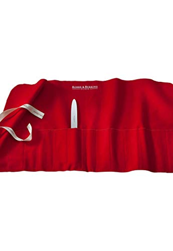 Robbe & Berking Bestecktasche aus Stoff. Aufbewahrung für versilberte und Silberne Bestecke. Schützt Silberbesteck vor Kratzern und kann das Anlaufen verhindern. (12 Menügabeln / 12 Menümesser)