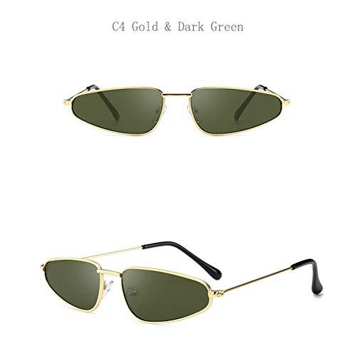 Taiyangcheng Cat Eye Damen Sonnenbrillen Männer Sonnenbrillen Männlich Weiblich Fahren,C4 Gold...