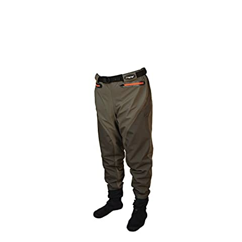 Frogg Toggs Men's 2717160-MD Pilot II Breathable Stockingfoot Guide Pant, Stone/Taupe, Medium