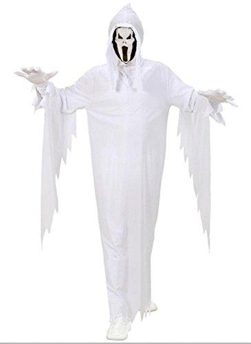 Größe 140-8 - 10 Jahre - Kostüm - Verkleidung - Karneval - Halloween - Geister Casper - Farbe Weiß - Unisex - Kinder