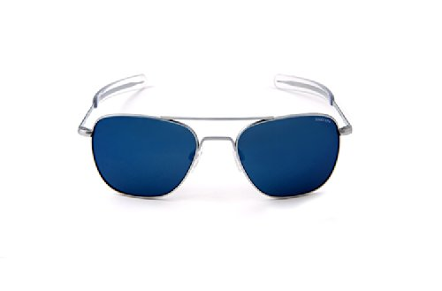 Randolph Engineering Aviator Chrom matt Bajonett 58 mm Blue Sky Sonnenbrille
