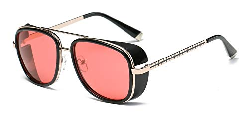 Onizah - Iron Man 3 Matsuda TONY stark Sonnenbrillen Herren Rossi Beschichtung Retro Vintage Designer Sonnenbrille Oculos Masculino Gafas de [C2]