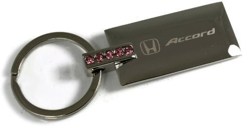 "dantegts Honda Accord Rosa brillantes Llavero Authentic Logo Llavero Llavero Lanyard 3,25""L x 1.25"" W"