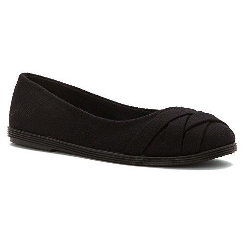 Blowfish Damen Glo Low Top Stoff Flach Schuh Solid Black Two-tone Flannel