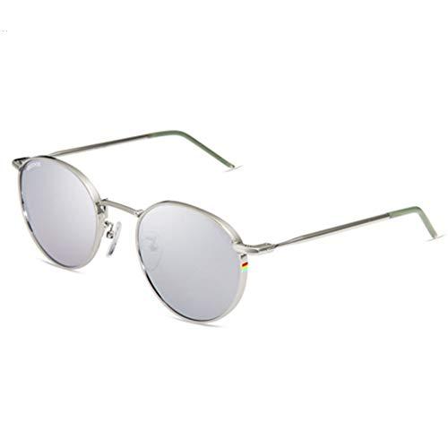 YSA Männer und Frauen Sonnenbrille Frauen rundes Gesicht komfortable Sonnenbrille Paar Brille polarisierte Sonnenbrille, C