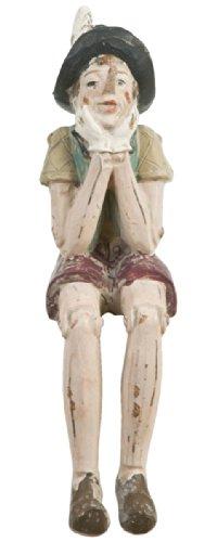 6pr0149kl clayre & eef - figura decorativa - pinocchio - seduto ca. 4 x 7 x 15 cm