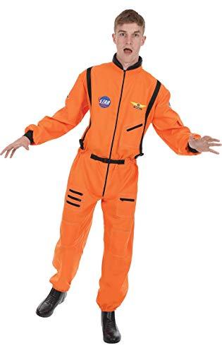 Für Astronaut Erwachsene Kostüm Orange Herren Overall - Herren Orange Astronauten Raumfahrer Raum NASA Verkleidung Kostüm Extra Large