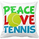 Peace Love Balle de tennis Cute Pillow