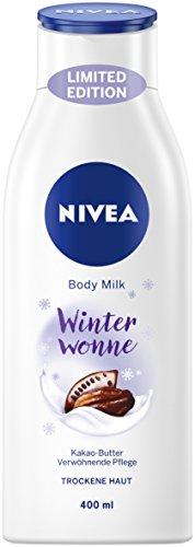 NIVEA 3er Pack Körper Milch, 3 x 400 ml Flasche, Limitierte Winter Edition, Body Milk Winter Wonne