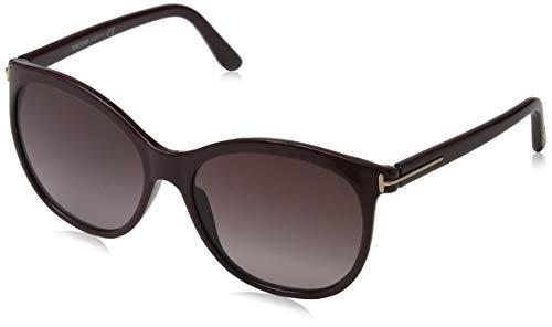 Tom Ford Damen FT0568 69T 57 Sonnenbrille, Burgunder,