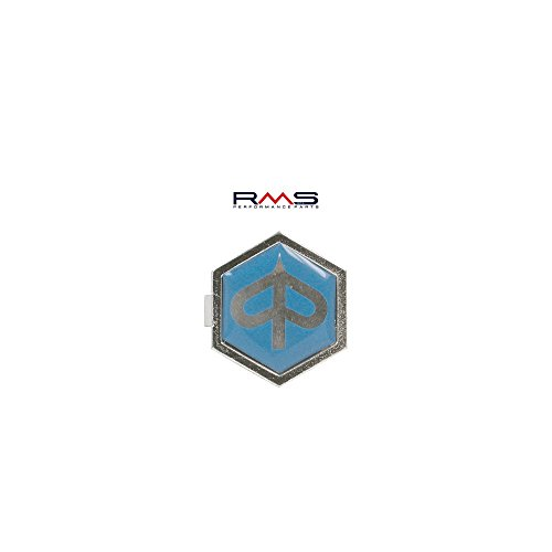 Preisvergleich Produktbild Emblem Piaggio 6-Eck Kaskade für Vespa PX T5 ET2 ET4 etc. - Aluminium, z. Stecken 32x37 mm