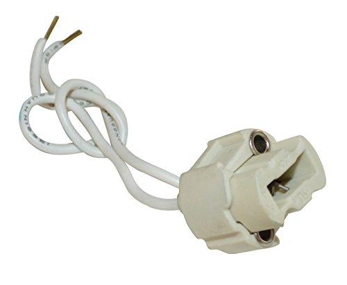 tibelec 854410Fassung Halogen für Leuchtmittel mit Sockel G9weiß