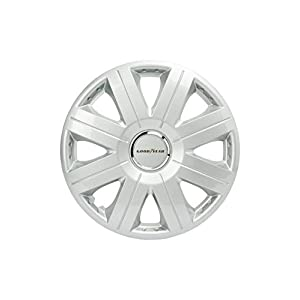 Good Year GOD9028 - Set of 4 Universal Hubcap-Car Wheel Trims Flexo 20, Silver, 15 inches
