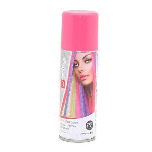 Auswaschbares Haarspray 125ml blau grün lila orange pink rot schwarz silber weiß Hair Clour Spray (Pink)