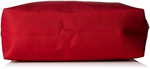 Le Tanneur Damen Swana Uni Umhängetasche, 12 x 23 x 34 cm Rot (Tricolore)
