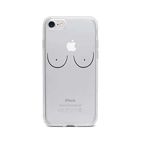 licaso Apple iPhone 7 Handyhülle Smartphone Apple Case aus TPU mit Brüste Print Motiv Slim Design Transparent Cover Schutz Hülle Protector Soft Aufdruck Lustig Funny Druck - Slim Brust