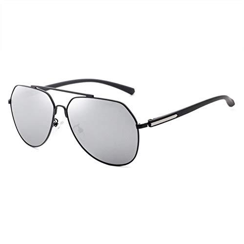 CWYPB Männliche UV-Schutzschattenspiegel, Metallrahmen im Außenbereich Brille Männer polarisierte Fahrsonnenbrille für den touristischen Strandeinkauf (4 Farben),C -