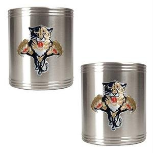 Great American NHL Edelstahl Dosenhalter Set Primary Logo, Florida Panthers, 2 Piece
