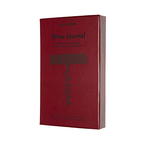 Moleskine - Wine Journal, Theme Notebook - Hardcover Notebook to Collect and Organise Your Wine - Large Size 13 x 21 cm - 400 Pages