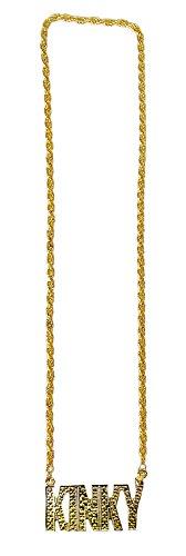 Kostüm Kinky - Goldene Disco Halskette KINKY