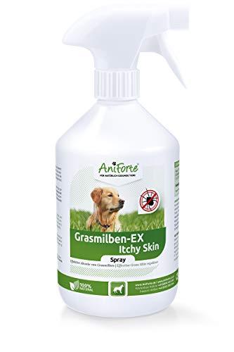 AniForte Grasmilben-EX Spray 500 ml - Grasmilbenspray für Hunde, Wirkung gegen Parasiten, effektive Abwehr, Reinigung & Pflege, beruhigt zusätzlich gereizte Haut, Linderung Juckreiz
