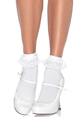 Leg Avenue Anklet With Lace Ruffle -